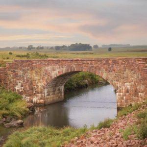 Historic Sioux Quartzite bridge at Split Rock Creek State Park