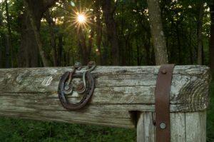 Horse hitching rail near scenic overlook