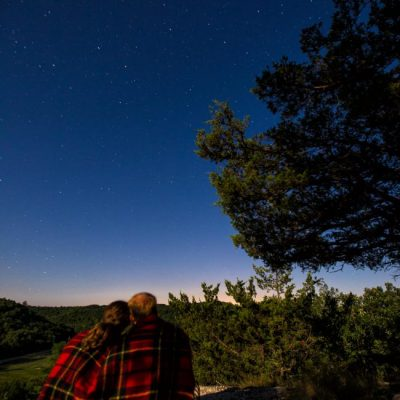 couple stargazing